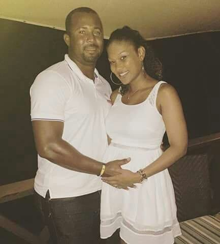 West Indies cricketer Dwayne Smith girl friend and wife Alyssa Webster