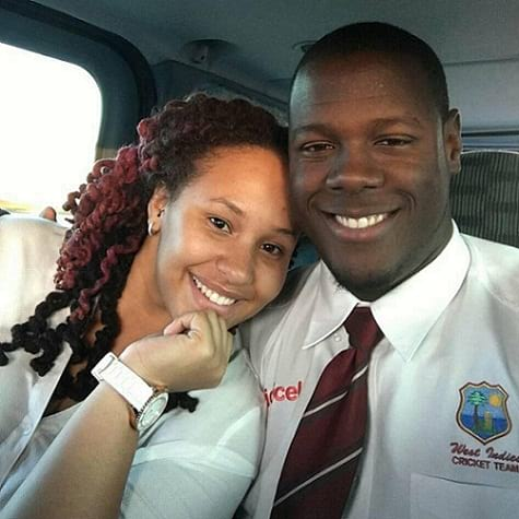 West Indies cricket player Carlos Brathwaite wife Jessica Felix