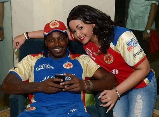 West Indies cricketer Chris Gayle wife Natasha Berridge