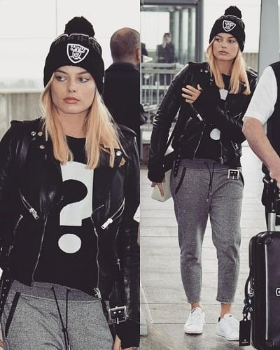 Margot Robbie without Makeup While Travelling