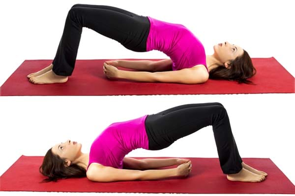 Bridge Pose for cough and phlegm