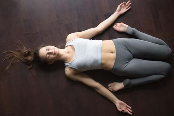 Supta Virasana for cough relief