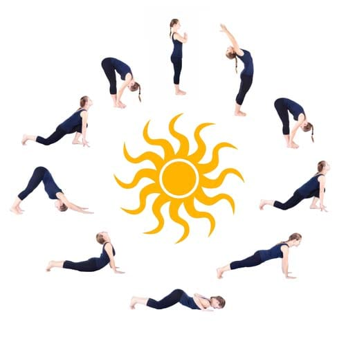 Surya Namaskar (Sun Salutation) for sugar control
