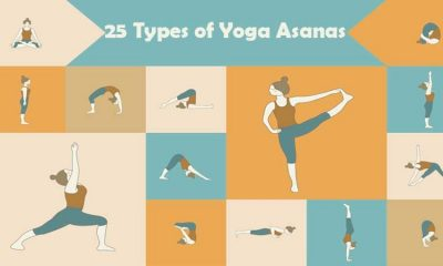Different types of yoga asanas