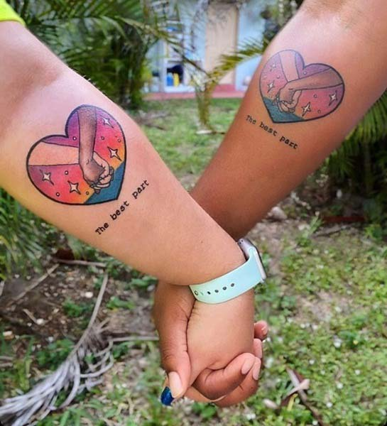 Couple Tattoos Heart