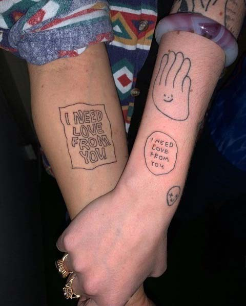 Couple Tattoos Arm