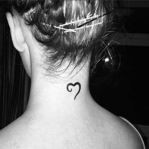 Small Neck Tattoos For Females