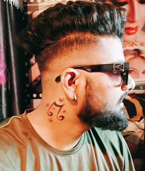 Small Side Neck Tattoos For Guys