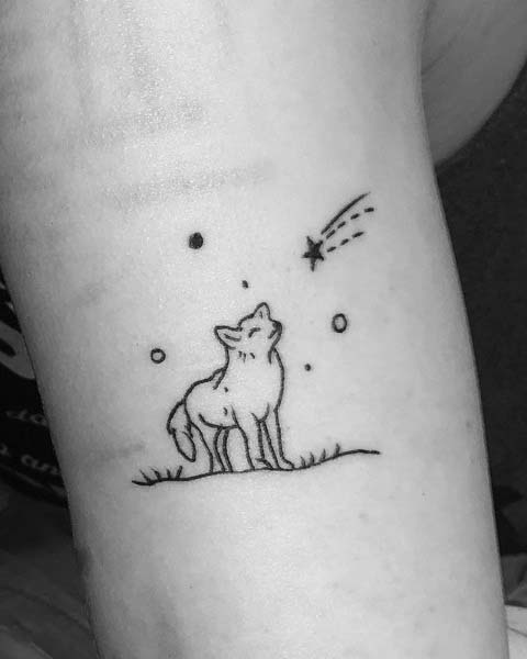 Simple and Small Wolf Tattoo