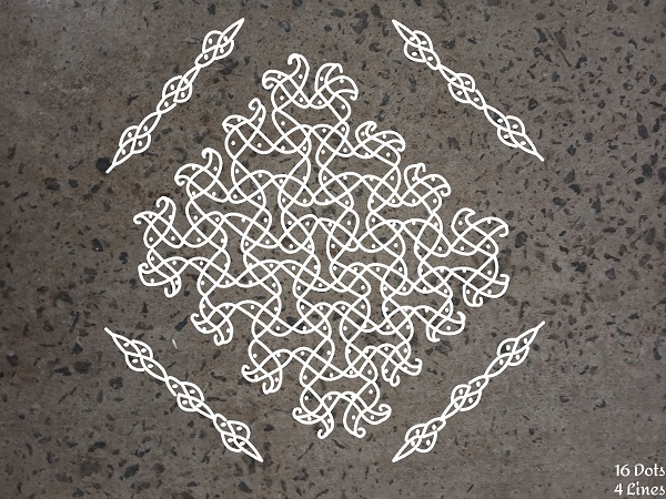 Dotted Rangoli Designs with the Number of Dots