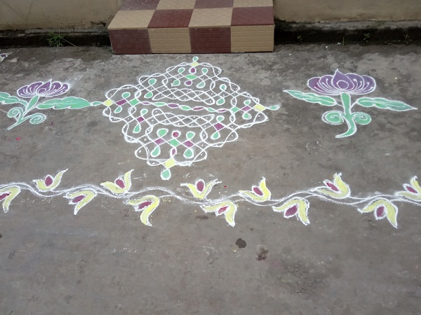Rangoli Designs with Dots and Colours
