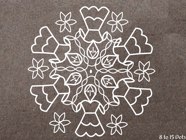 Rangoli Designs with Dots for Competition